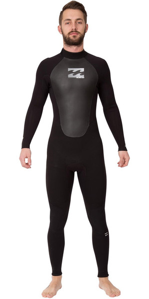 2018 Billabong Intruder 5/4/3mm GBS Back Zip Wetsuit BLACK O45M15