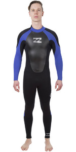 2019 Billabong Intruder 5/4/3mm GBS Back Zip Wetsuit BLACK / Blue 045M15