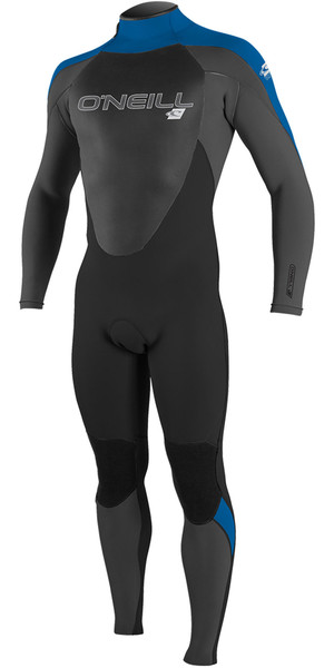 2019 O'Neill Mens Epic 4/3mm Back Zip Wetsuit Black / Graphite / Ocean 4212