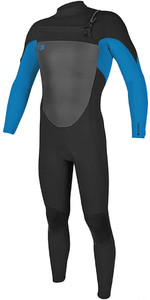 2018 O'Neill O'riginal 4/3mm Chest Zip Wetsuit Black / Ocean 5012