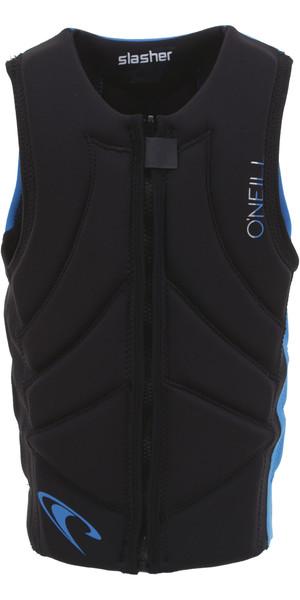 2019 O'Neill Youth Slasher Comp Impact Vest Black / Ocean 4940BEU