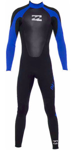 2019 Billabong Junior Intruder 5/4/3mm GBS Back Zip Wetsuit in BLACK / Blue 045B15