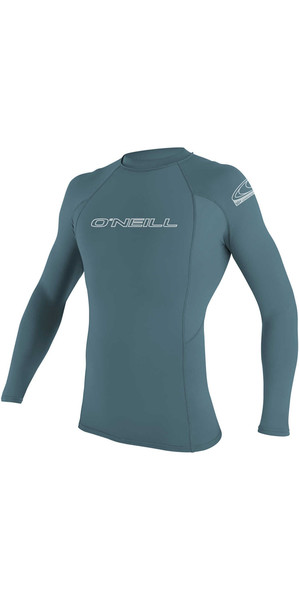 2018 O'Neill Basic Skins Long Sleeve Crew Rash Vest DUSTY BLUE 3342