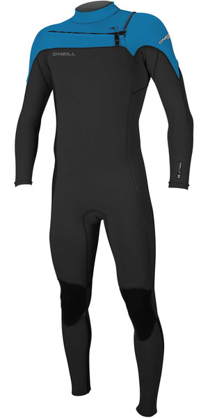 2018 O'Neill Hammer 3/2mm Chest Zip Wetsuit BLACK / OCEAN 4926