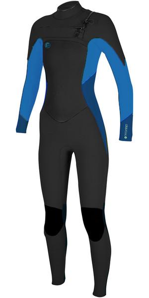 2018 O'Neill Womens O'Riginal 3/2mm Chest Zip Wetsuit BLACK / SLATE / BLUE 5014