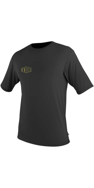 2018 O'Neill Premium Skins Graphic Short Sleeve Rash Tee BLACK 5077SA