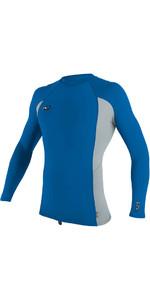 2019 O'Neill Premium Skins Long Sleeve Rash Vest OCEAN / COOL GREY 4170B