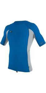 2019 O'Neill Premium Skins Short Sleeve Rash Vest OCEAN / COOL GREY 4169B