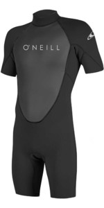 2019 O'Neill Reactor II 2mm Back Zip Shorty Wetsuit BLACK 5041