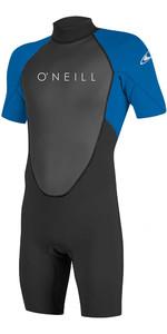 2020 O'Neill Reactor II 2mm Back Zip Shorty Wetsuit BLACK / OCEAN  5041