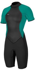 O'Neill Womens Bahia 2/1mm Back Zip Shorty Wetsuit BLACK 4858