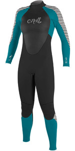 O'Neill Womens Epic 3/2mm Back Zip GBS Wetsuit 4213 - Black / Capri