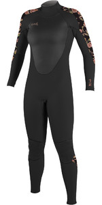 O'Neill Womens Epic 5/4mm Back Zip GBS Wetsuit 4218B - Black / Flo