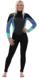 O'Neill Womens O'Riginal 3/2mm Chest Zip Wetsuit BLACK / SEAGLASS / DUSTY BLUE 5014