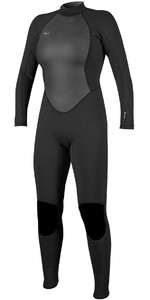 2019 O'Neill Womens Reactor II 3/2mm Back Zip Wetsuit BLACK 5042