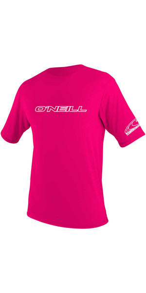 2018 O'Neill Youth Basic Skins Short Sleeve Rash Tee WATERMELON 3422