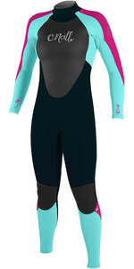 O'Neill Youth Girls Epic 3/2mm Back Zip GBS Wetsuit SLATE / SEAGLASS / BERRY 4215G - 2nd