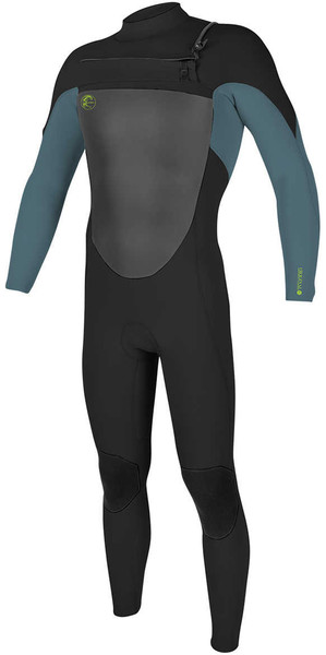 2018 O'Neill Youth O'Riginal 5/4mm Chest Zip Wetsuit BLACK / DUSTY BLUE / DAYGLO 4999