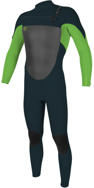 2018 O'Neill Youth O'riginal 3/2mm GBS Chest Zip Wetsuit SLATE / DAYGLO 5017