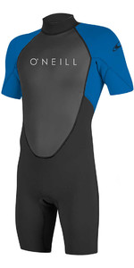 O'Neill Youth Reactor II 2mm Back Zip Shorty Wetsuit BLACK / OCEAN 5045