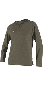 2019 O'Neill Mens Hybrid Long Sleeve Surf Tee Khaki 4879