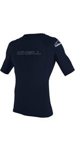 2020 O'Neill Mens Basic Skins Short Sleeve Crew Rash Vest Slate 3341