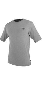 2021 O'Neill Mens Blueprint UV Short Sleeve Sun Shirt Rash Vest 5450SD - Overcast