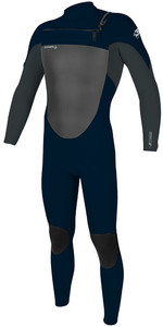 2021 O'Neill Mens Epic 4/3mm Chest Zip Wetsuit 5354 - Abyss / Gunmetal
