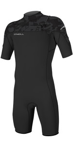 2019 O'Neill Mens Hammer 2mm Chest Zip Spring Shorty Wetsuit Black / Jet Camo 4927