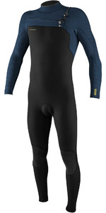 2020 O'Neill Mens HyperFreak+ 5/4mm Chest Zip Wetsuit 5345 - Black / Abyss