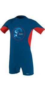 2021 O'Neill Toddler O'Zone Sun Suit Deepsea / Red / White 5298