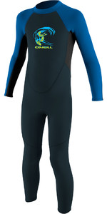 2019 O'Neill Toddler Reactor 2mm Back Zip Wetsuit Slate / Aqua 4868