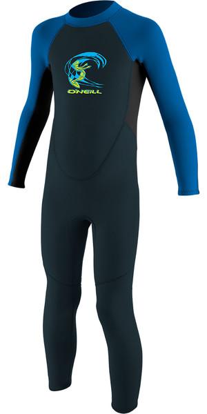 2019 O'Neill Toddler Reactor 2mm Back Zip Wetsuit Slate / Aqua 4868