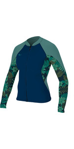 2019 O'Neill Womens Bahia 1mm Full Zip Long Sleeve Neoprene Jacket Abyss / Faro 4933
