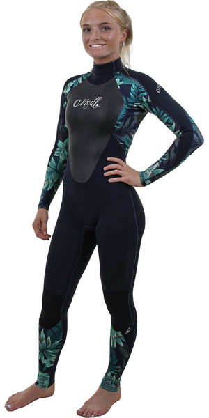 2019 O'Neill Womens Epic 4/3mm Back Zip GBS Wetsuit Abyss / Faro 4214