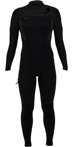 2019 O'Neill Womens Hyperfreak 3/2mm Chest Zip Wetsuit Black 5321
