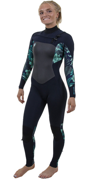 2019 O'Neill Womens O'Riginal 4/3mm Chest Zip Wetsuit Abyss / Faro 5015