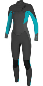 2019 O'Neill Womens O'Riginal 3/2mm Chest Zip Wetsuit Abyss / Faro 5014