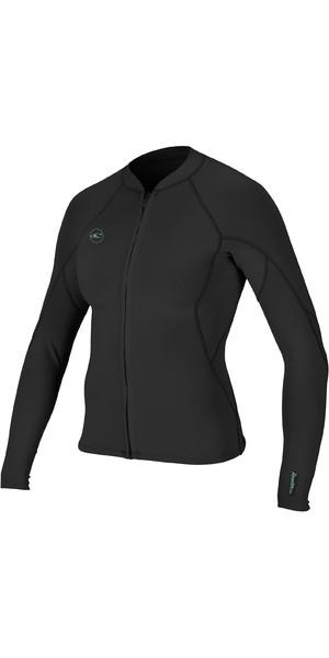 2019 O'Neill Womens Reactor II 1.5mm Front Zip Neoprene Jacket Black 5294