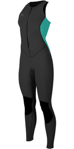 2020 O'Neill Womens Reactor II 1.5mm Long Jane Black / Aqua 5295