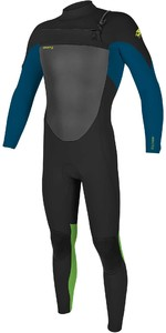 2021 O'Neill Youth Epic 5/4mm Chest Zip GBS Wetsuit 5372 - Black / Ultra Blue / Day Glow