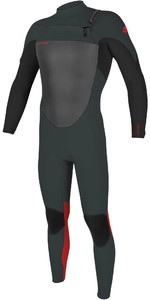 2021 O'Neill Youth Epic 5/4mm Chest Zip GBS Wetsuit 5372 - Gunmetal / Black / red
