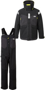 2019 Gill OS2 Mens Offshore Jacket OS24J & Trousers OS24T Combi Set Black