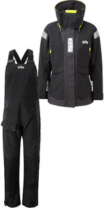 2019 Gill OS2 Womens Offshore Jacket OS24JW & Trouser OS24TW Combi Set Black
