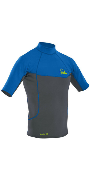 2018 Palm Neo Flex Short Sleeve 0.5mm Thermospan Top Grey / Blue 12184
