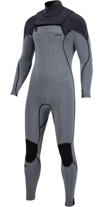 2020 Prolimit Mens Mercury 5/3mm TR Free Zip Wetsuit 14035 - Grey / Black