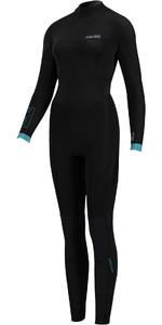 2020 Prolimit Womens Fire 5/3mm V-Back Zip Wetsuit 15060 - Black / Turquoise