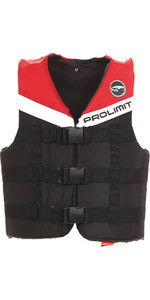 2018 Prolimit 50N 3-Buckle Impact Ski Vest Black / Red 53260