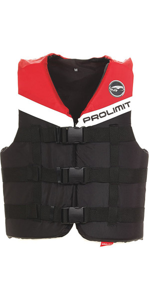 2018 Prolimit 50N 3-Buckle Impact Ski Vest Black / Red 53260