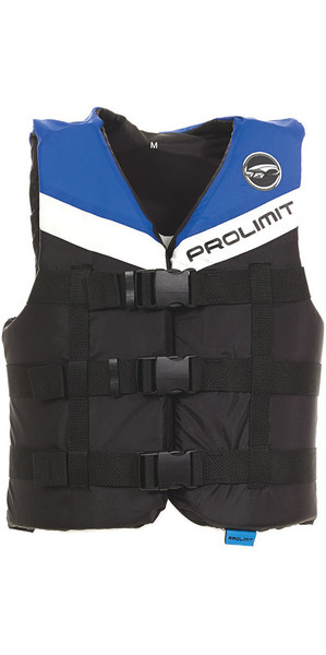 2018 Prolimit 50N 3-Buckle Impact Ski Vest Black / Blue 53260